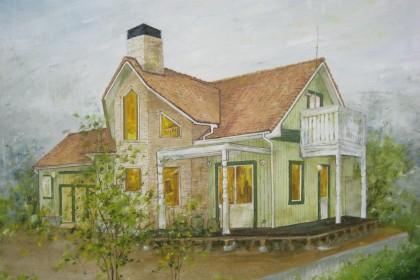 華仙画廊の油絵